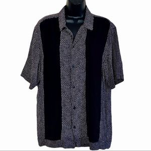 All Saints Relaxed Fit Button Up Bowling Shirt L